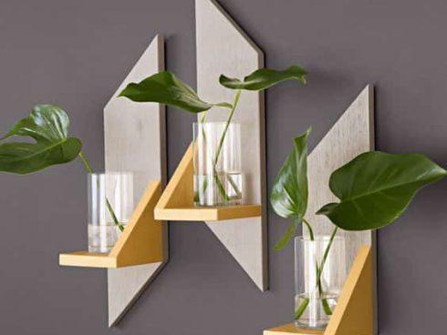 گلدان دیواری چوبی
