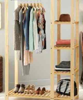 رگال چوبی لباس