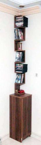 جای CD و DVD دکوری به همراه کمد