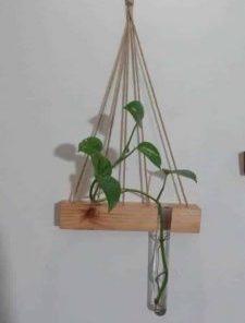 گلدان آویز | صنایع چوب تاقوک