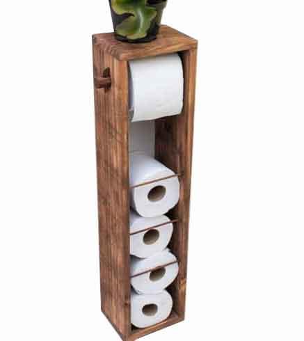 جای دستمال توالت رولی چوبی