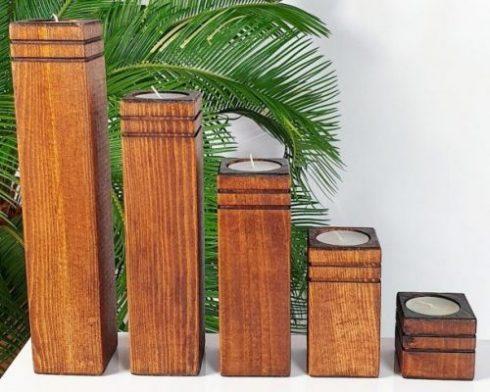 شمعدانی چوبی