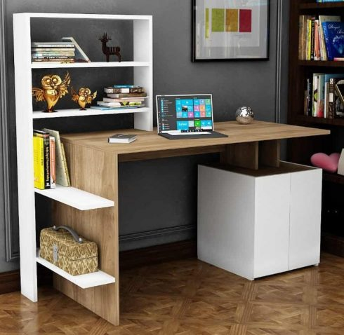میز کار و قفسه