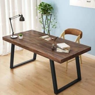 میز کار چوبی فلزی