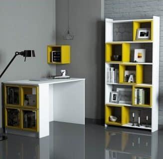 ست میزکار و کتابخانه و باکس چوبی