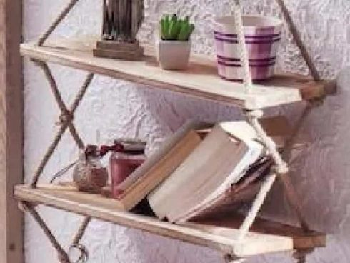 قفسه دیواری چوبی