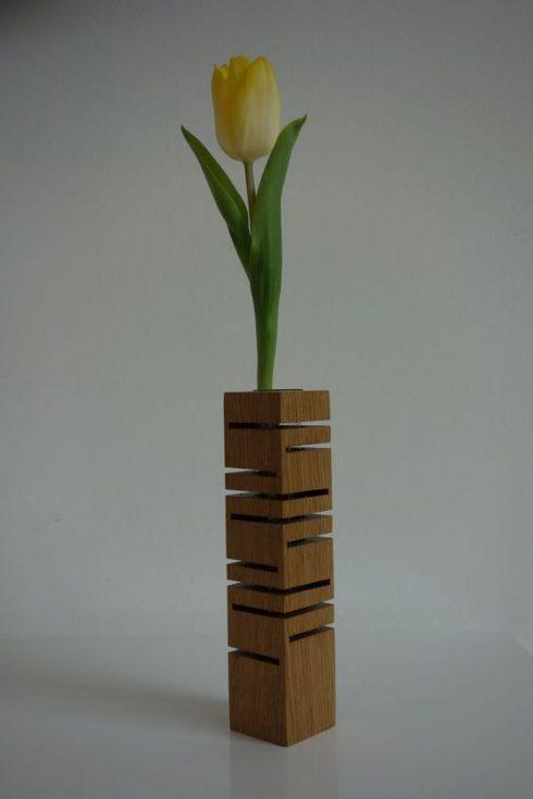 گلدان رومیزی چوبی فانتزی