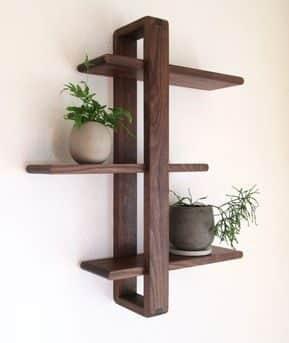 قفسه دیواری چوبی سه طبقه