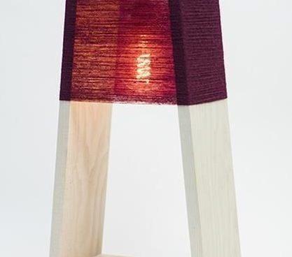 چراغ آویز و رومیزی دکوری چوبی