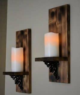 جاشمعی دیواری چوبی