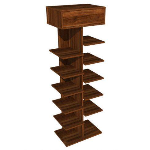جاکفشی چوبی 13 طبقه با کشو