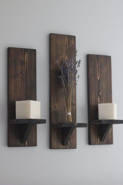 جاشمعی دیواری دکوری چوبی