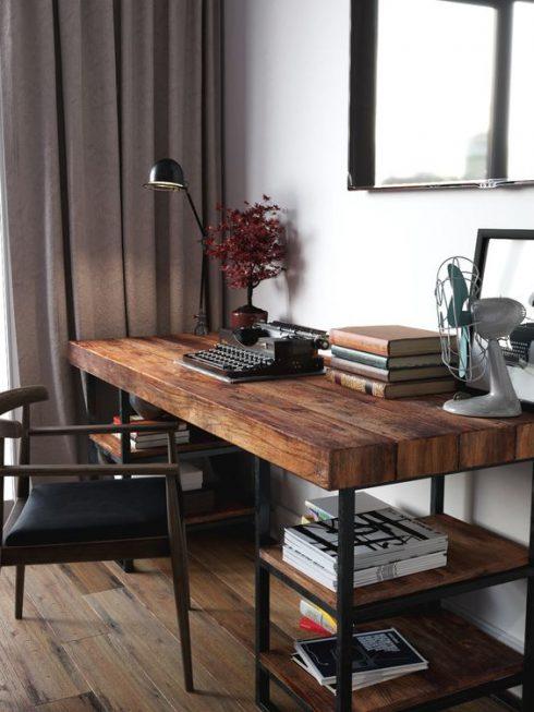 میزکار چوب و فلز طرح سارا