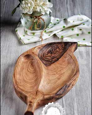 ظرف چوبی طرح برگ