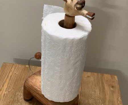 جادستمال رولی رومیزی چوبی طرح زرافه